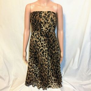 The Limited Leopard Print Strapless Dress